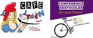 Logos café citoyen et féminisme