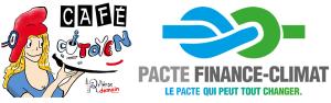 Logos café citoyen et pacte Finance-Climat