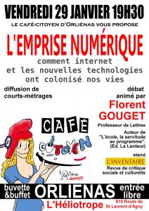 Café-citoyen Orliénas 29 janvier 2016 : l'emprise numérique