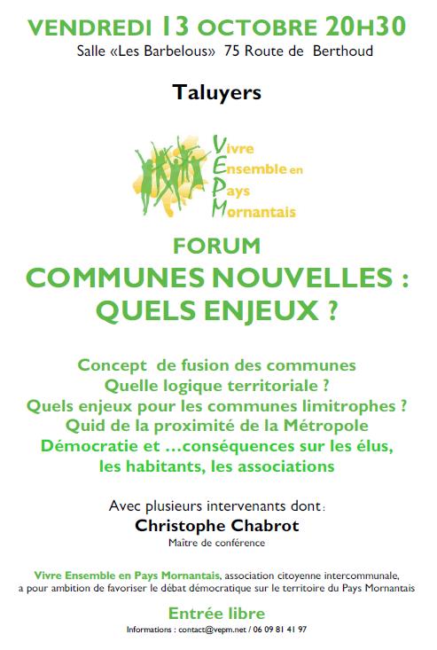 Forum communes nouvelles