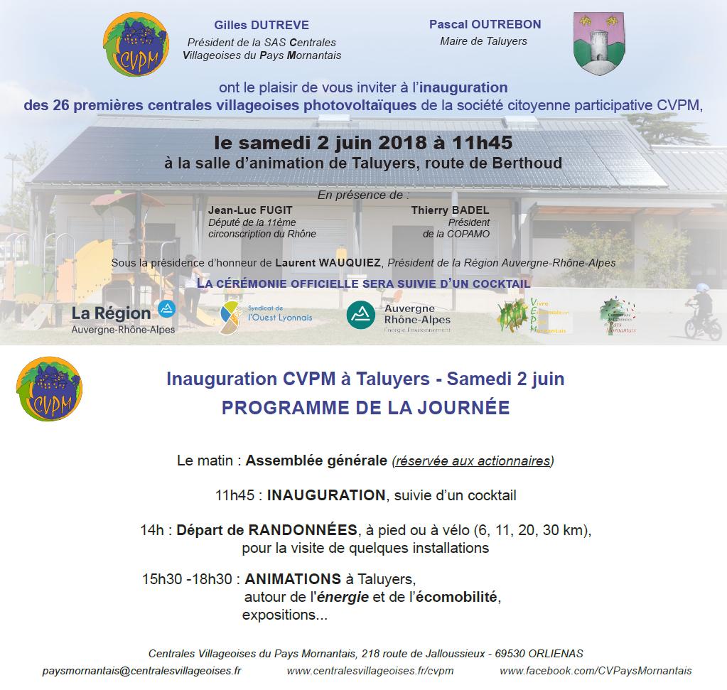 Invitation 2 juin 2018 recto et verso
